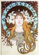 Art Deco Poster Sarah Bernhardt as La Princesse Lointaine